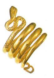 promotion sur Bague Serpent grecque - Plaqué or, T52