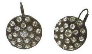 Earrings from painting madame jeantaud au miroir for Metal miroir