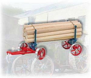 machine à vapeur A425 - Chariot avec chargement de bois long Wilesco Quirao idées cadeaux