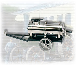 machine à vapeur A388 - Citerne arroseuse noir / nickel Wilesco Quirao idées cadeaux