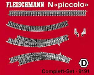 accessoire de train Set de rail  (échelle N)  9191 Fleischmann Quirao idées cadeaux