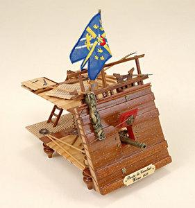 maquette de bateau, voilier, runabout Wasa Poste de combat  Historic Marine Quirao idées cadeaux