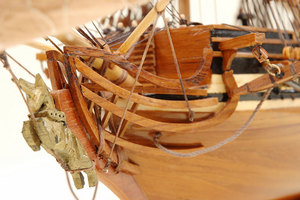 maquette de bateau, voilier, runabout Unicorn HMS Historic Marine Quirao idées cadeaux