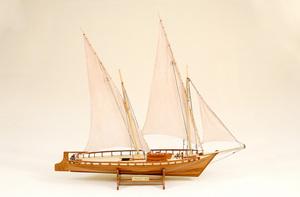 maquette de bateau, voilier, runabout Neptune - 74 cm Historic Marine Quirao idées cadeaux