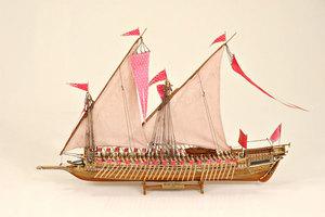 maquette de bateau, voilier, runabout Réale de France - 71 cm Historic Marine Quirao idées cadeaux