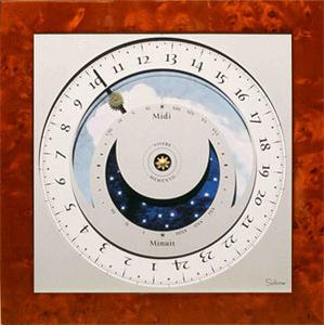 horloge Horloge du soleil - Loupe d'orme Soltime Quirao idées cadeaux