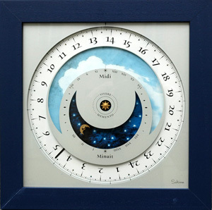 horloge Horloge du soleil - Horizon Soltime Quirao idées cadeaux