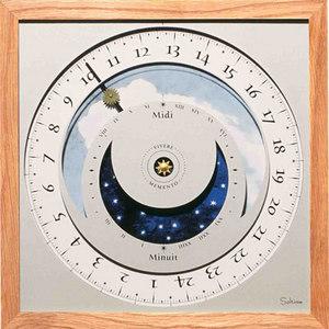 horloge Horloge du soleil - Nature Acajou Soltime Quirao idées cadeaux