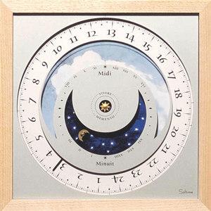 horloge Horloge du soleil - Nature Frène Soltime Quirao idées cadeaux