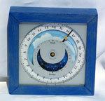 horloge Horloge du soleil - Nomade Hètre lasuré bleu Soltime Quirao idées cadeaux