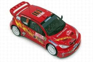 miniature de voiture Peugeot 206 Wrc Monte Carlo 2005 N° 61 - Auriol Provence Miniatures Quirao idées cadeaux