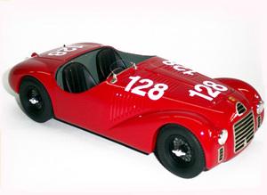 miniature de voiture Ferrari 125 S Cortese 1947 #56 MG Model Plus Quirao idées cadeaux