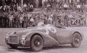 miniature de voiture Ferrari 125 S Cortese 1947 #128 MG Model Plus Quirao idées cadeaux