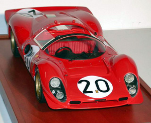 miniature de voiture Ferrari 330 P4 spyder Le Mans 67 (1:12e) MG Model Plus Quirao idées cadeaux