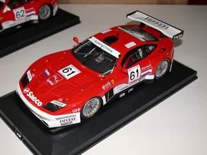 miniature de voiture Ferrari 575 GT 24 h Mans Barron Connor GTS 2003 # 61 (KIT) MG Model Plus Quirao idées cadeaux