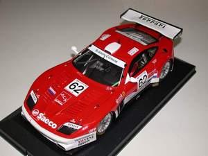 miniature de voiture Ferrari 575 GT 24 h Mans Barron Connor GTS 2003 # 62 (KIT) MG Model Plus Quirao idées cadeaux