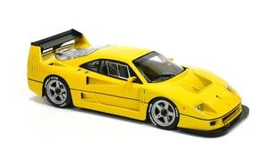 miniature de voiture Ferrari F40 LM yellow Road car MG Model Plus Quirao idées cadeaux
