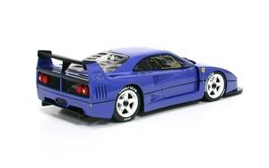 miniature de voiture Ferrari F40 LM blue Road car MG Model Plus Quirao idées cadeaux