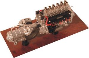 miniature de voiture Moteur de V12 60° 1965  - Ferrari 250 LM MG Model Plus Quirao idées cadeaux