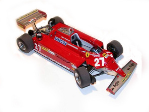 miniature de voiture Ferrari 126 CK F.1 GP Monaco 81 Villeneuve (1:12e) MG Model Plus Quirao idées cadeaux