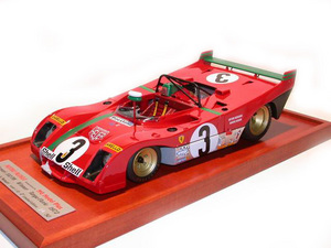 miniature de voiture Ferrari 312 PB Targa Florio 1972 Merzario - Munari MG Model Plus Quirao idées cadeaux