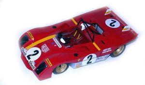 miniature de voiture Ferrari 312 PB Sebring 72 (1:12e) MG Model Plus Quirao idées cadeaux