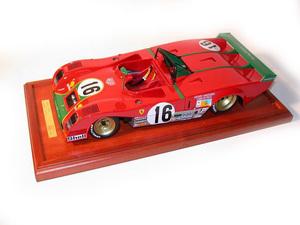 miniature de voiture Ferrari 312 PB Le Mans 73 (1:12e) MG Model Plus Quirao idées cadeaux