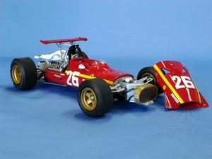 miniature de voiture Ferrari 312 V12 F.1 GP France 68 (KIT au 1/12e) MG Model Plus Quirao idées cadeaux