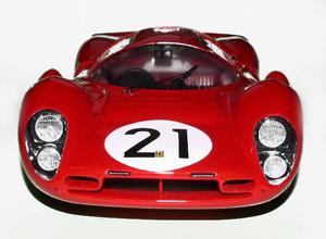 miniature de voiture Ferrari 330 P4 coupé Le Mans 67 (KIT au 1/12e) MG Model Plus Quirao idées cadeaux