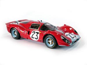 miniature de voiture Ferrari 412 P 24h du Mans 1967 #23 Atwood - Courage MG Model Plus Quirao idées cadeaux
