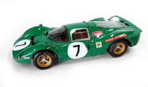 miniature de voiture Ferrari 412 P 9h Kyalami 1967 #7 MG Model Plus Quirao idées cadeaux