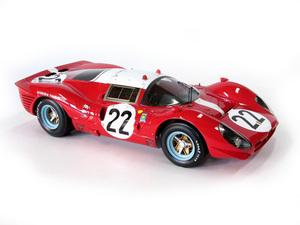 miniature de voiture Ferrari 412 P 24 h du Mans 1967 # 22 Muller - Guichet MG Model Plus Quirao idées cadeaux