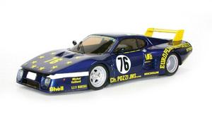 miniature de voiture Ferrari 512 BB LM 24h du Mans 80 #76 MG Model Plus Quirao idées cadeaux