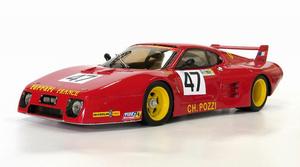 miniature de voiture Ferrari 512 BB LM  24h du Mans 81 #47 MG Model Plus Quirao idées cadeaux