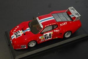 miniature de voiture Ferrari 512 BB LM 24h du Mans 79 Nart #64 MG Model Plus Quirao idées cadeaux