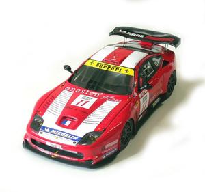 miniature de voiture Ferrari 550 GT Larbre competition Monza 2005 #11 (KIT) MG Model Plus Quirao idées cadeaux