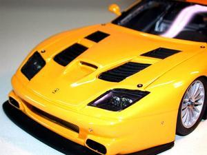miniature de voiture Ferrari 575 GT road car jaune (KIT) MG Model Plus Quirao idées cadeaux