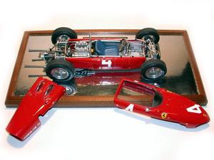 miniature de voiture Ferrari DINO 156 V6-120° GP Belgique 1961 (1:12e) Hill MG Model Plus Quirao idées cadeaux