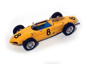 miniature de voiture Ferrari DINO 156 V6-65° F1 GP Belgique 1961 #8 Gendebien MG Model Plus Quirao idées cadeaux