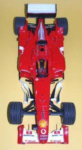 miniature de voiture Ferrari F2003-GA F.1 GP Espagne Schumacher (KIT au 1/12e) MG Model Plus Quirao idées cadeaux